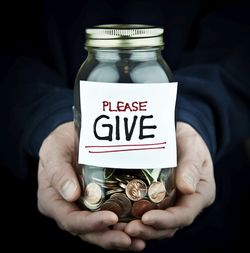 Please Give sign on coins